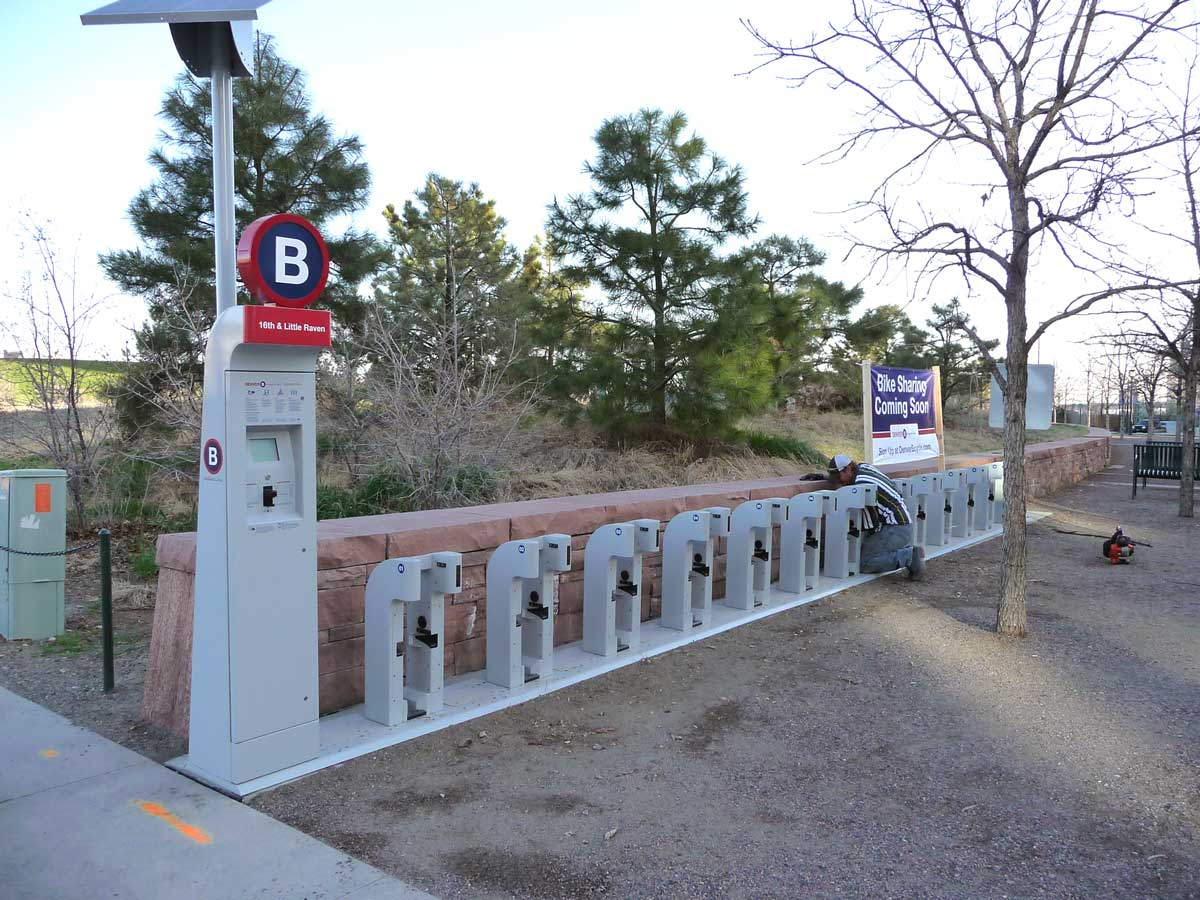 B-Cycle station at 16th & Little Raven
