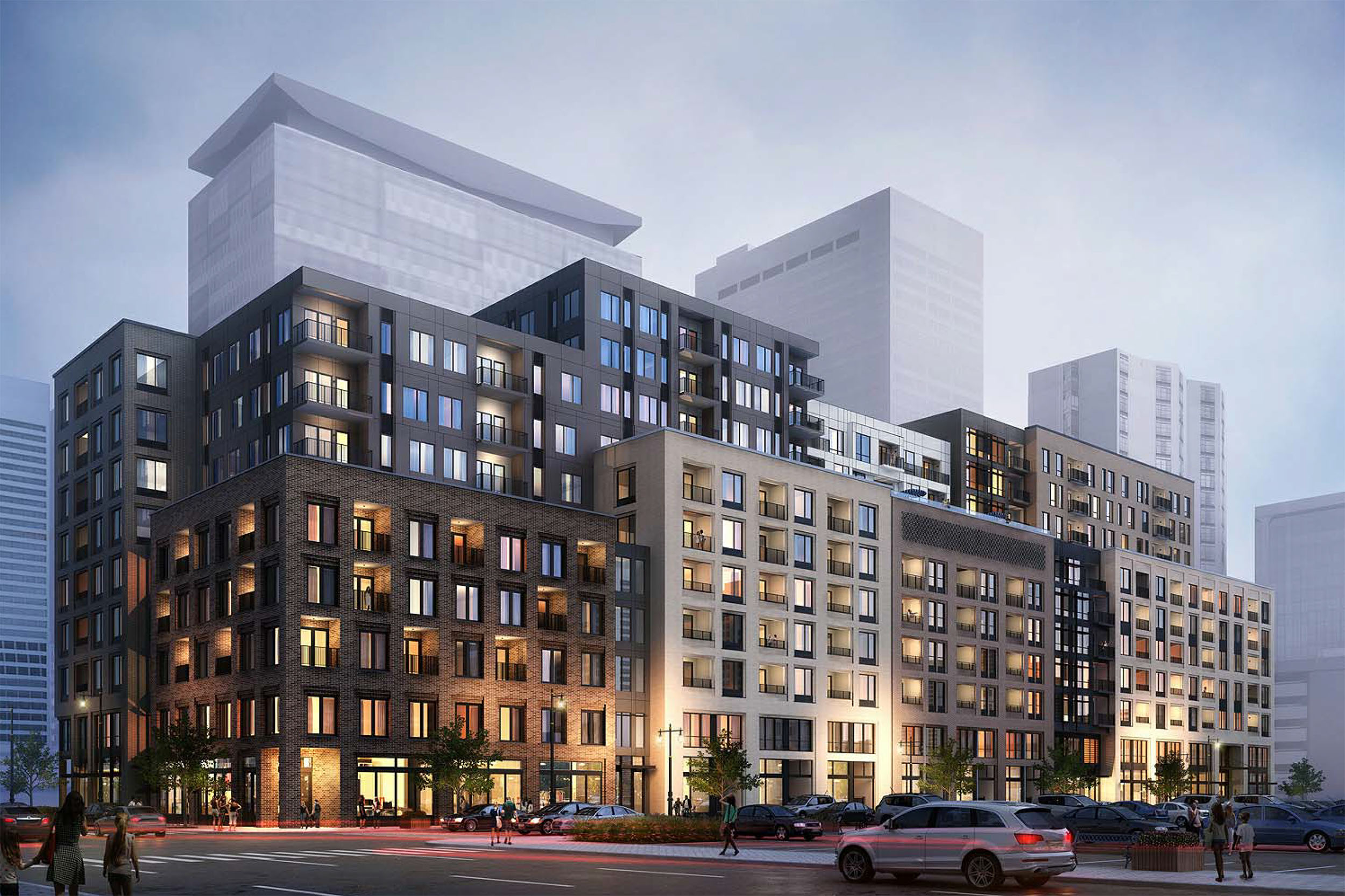 Rendering of the proposed 18th and Market Apartments, courtesy of Johnson Nathan Strohe