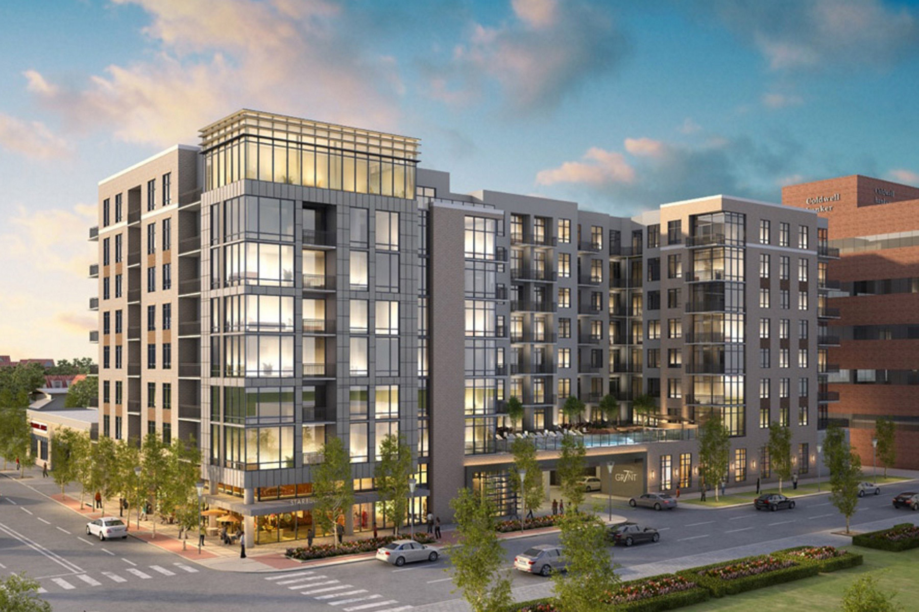 Rendering of Vantage 7th and Grant by Ziegler Cooper Architects