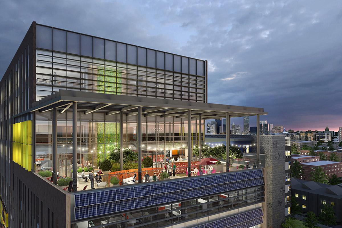 DHA Headquarters eighth-floor terrace
