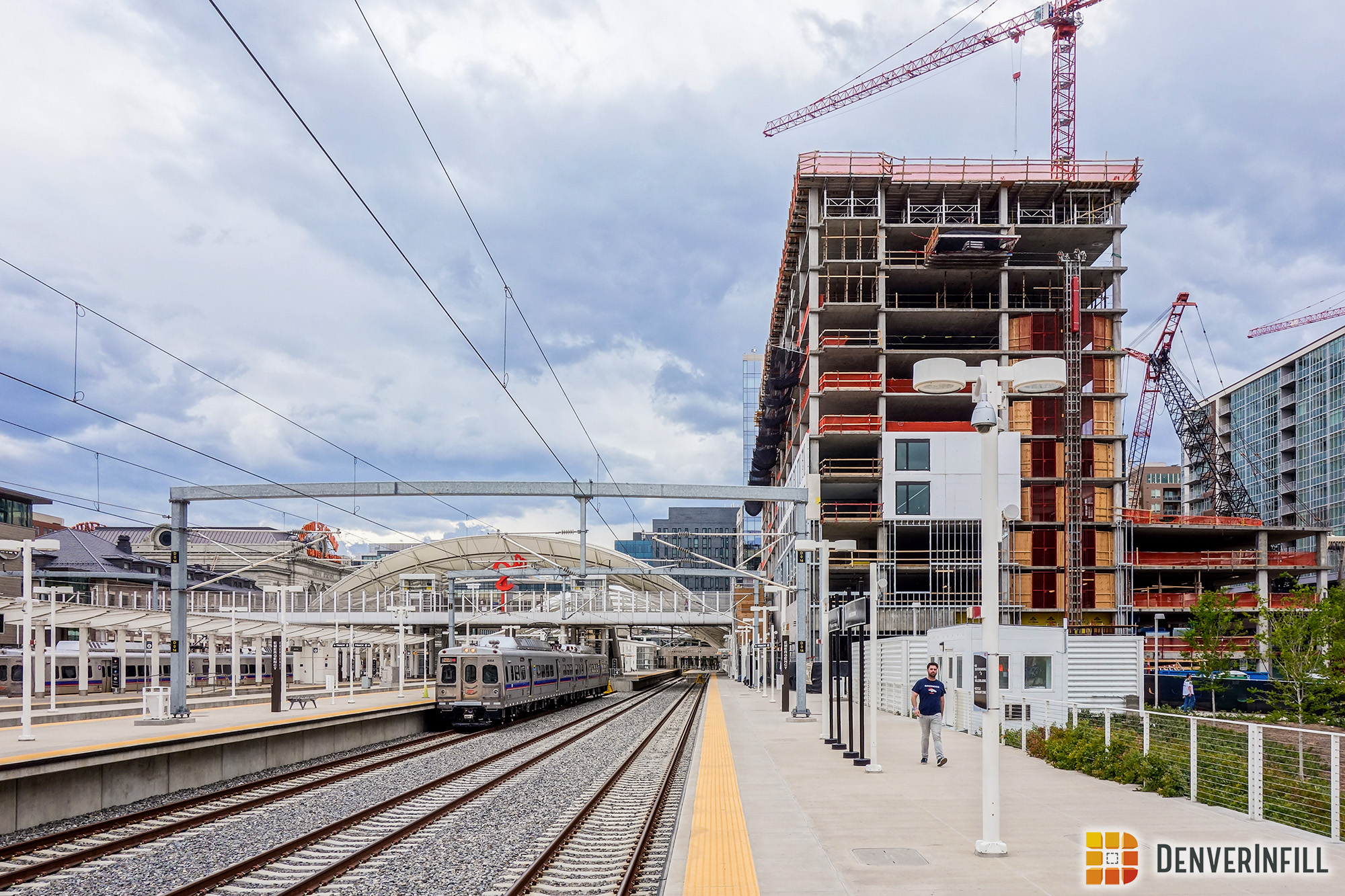 The Coloradan from the commuter rail canopy