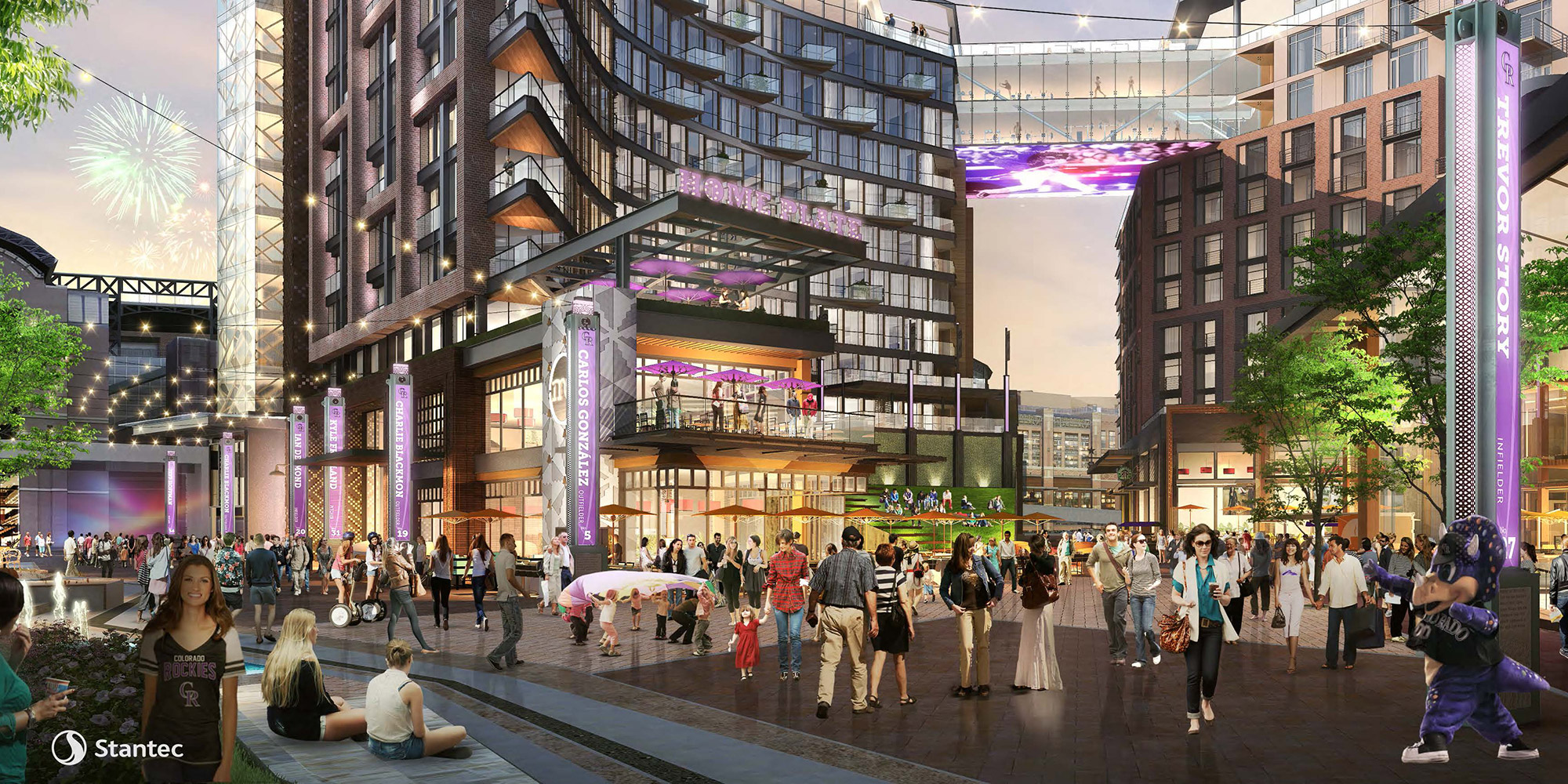 Proposed Colorado Rockies Mixed-Use project viewed from 19th & Wynkoop, rendering courtesy of Stantec