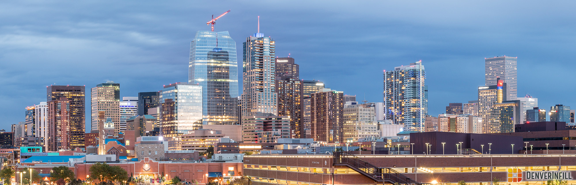 Downtown Denver skyline from Auraria Campus