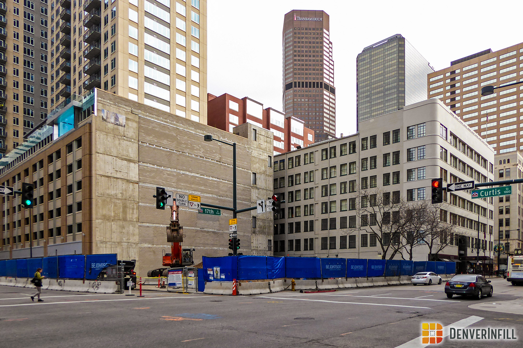 999 17th Street under construction at 17th & Curtis