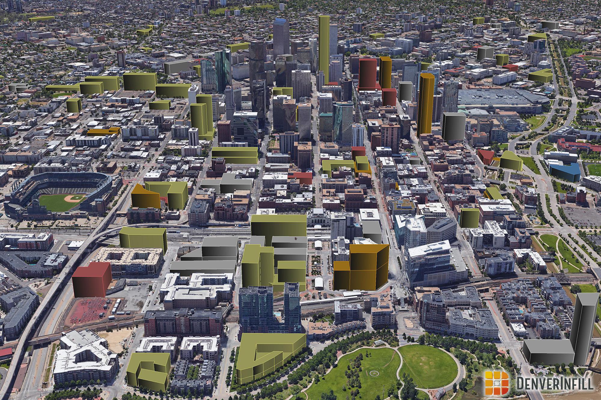 Denver 3D Future Skyline December 2017