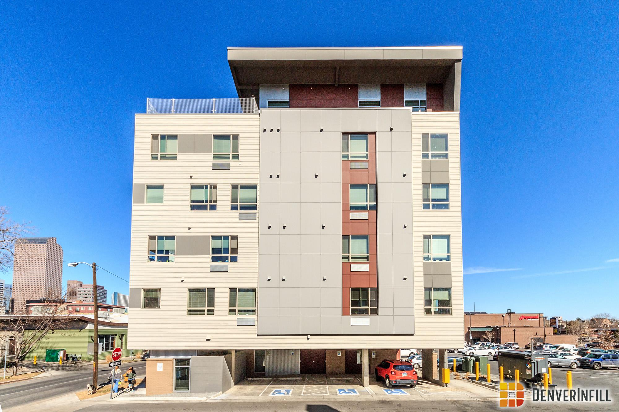 Saint Francis Apartments along Washington Street in Denver's Capitol Hill neighborhood