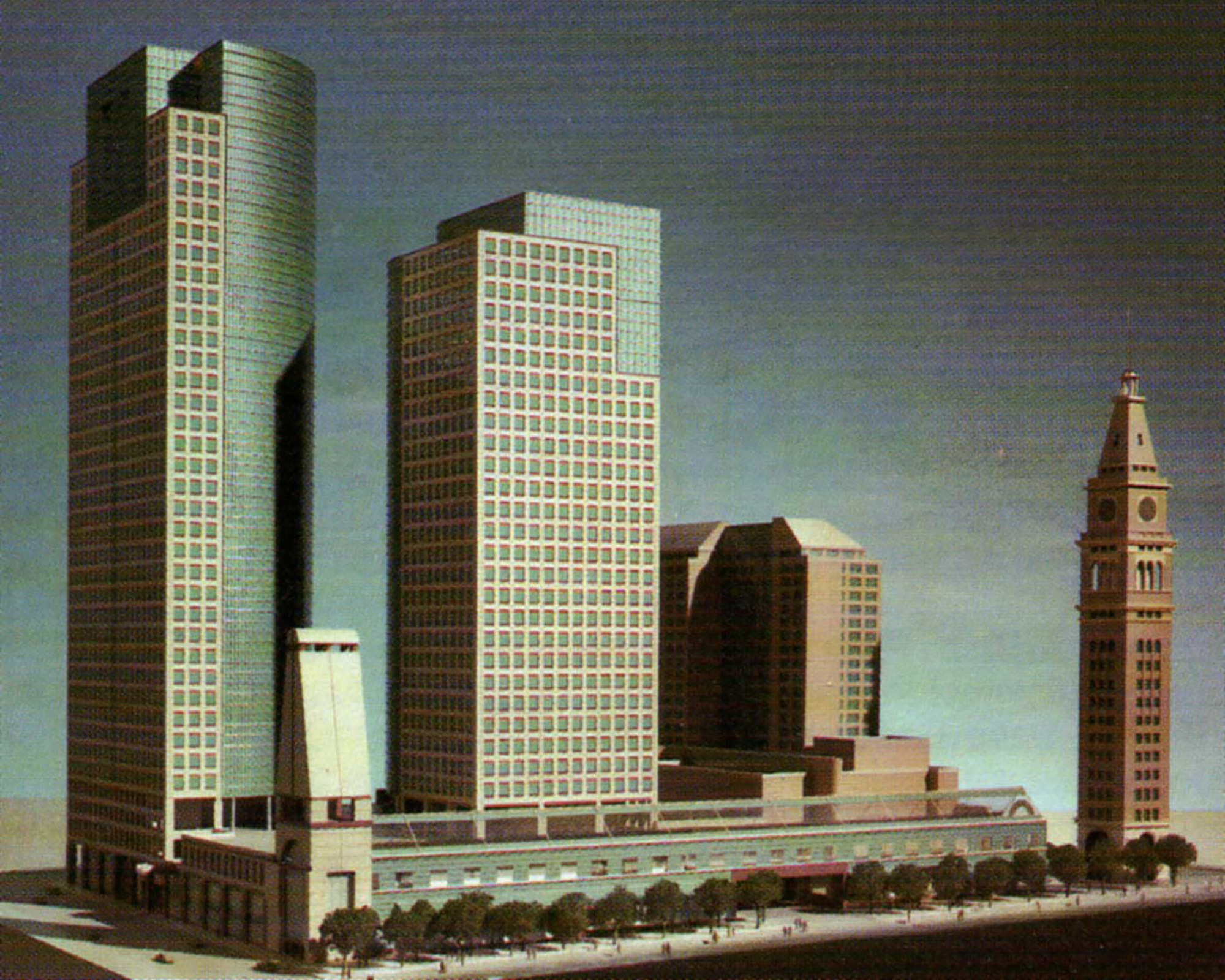 Original Tabor Center concept model from early 1980s
