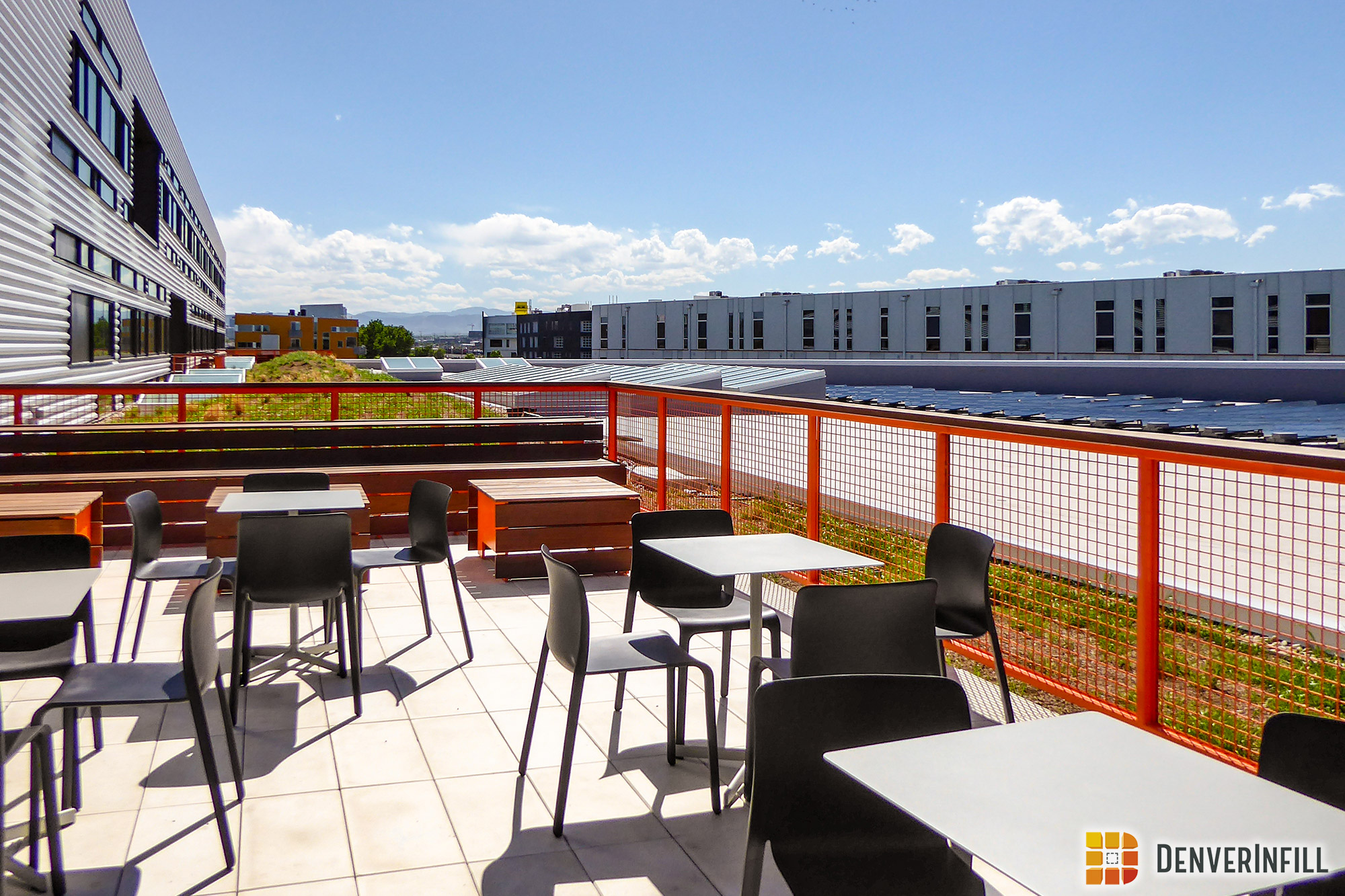 Outdoor terraces and green roofs at Flight