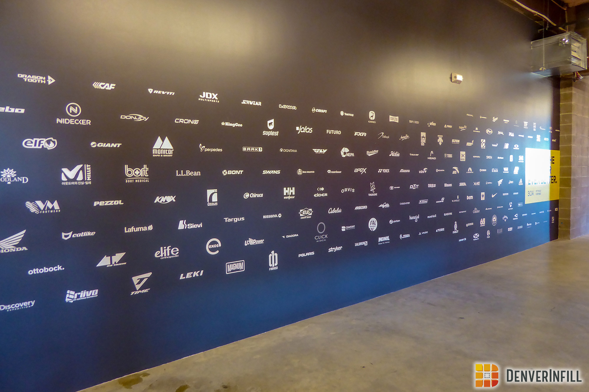 Boa's corporate partners logo display wall