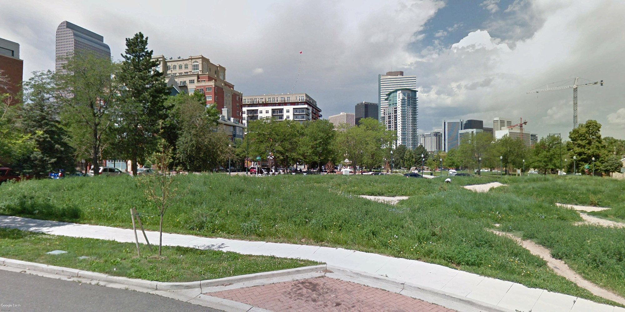 Google street view of the 575 East 20th Avenue site looking west