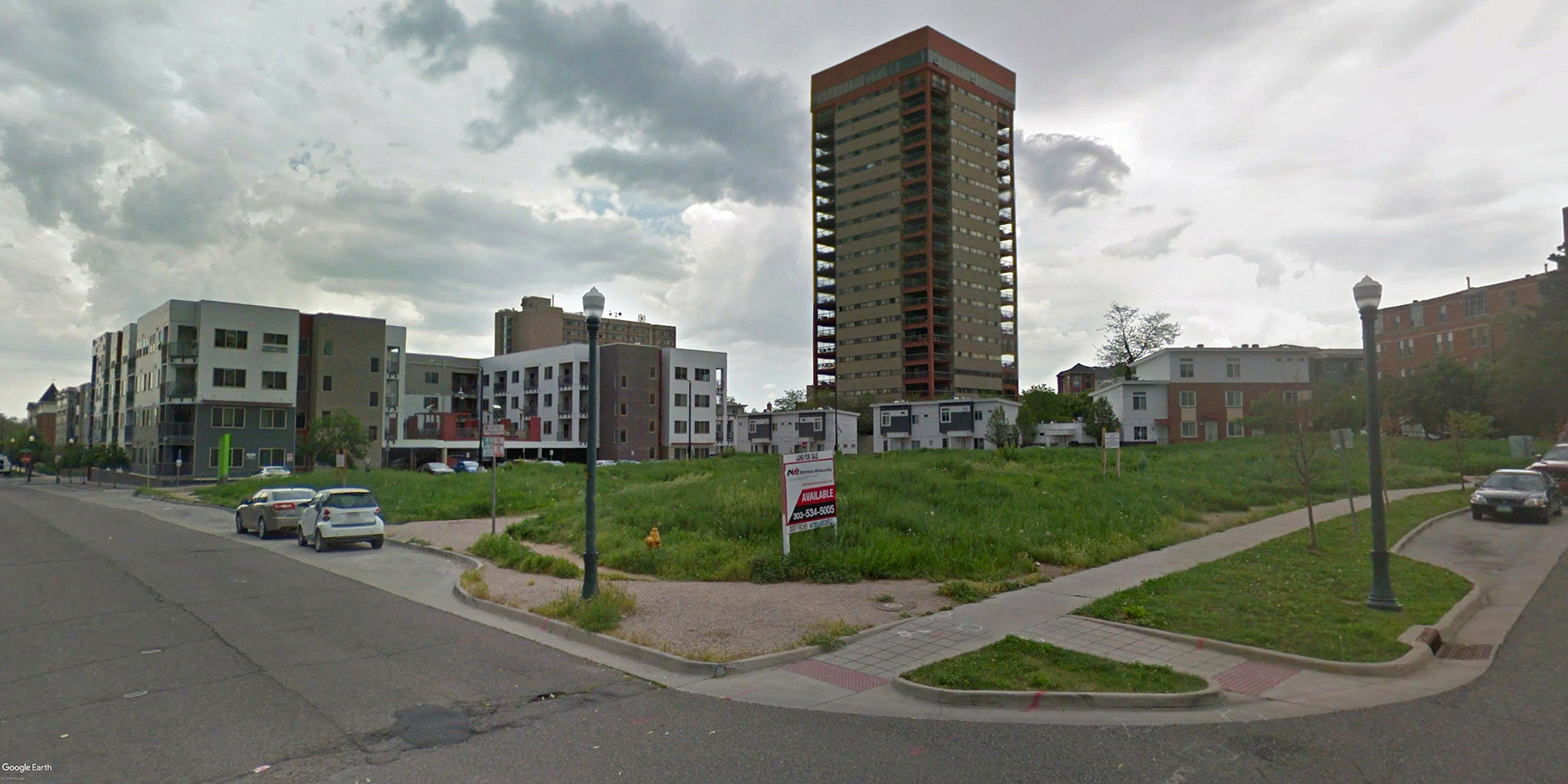 Google street view of the 575 East 20th Avenue site looking east