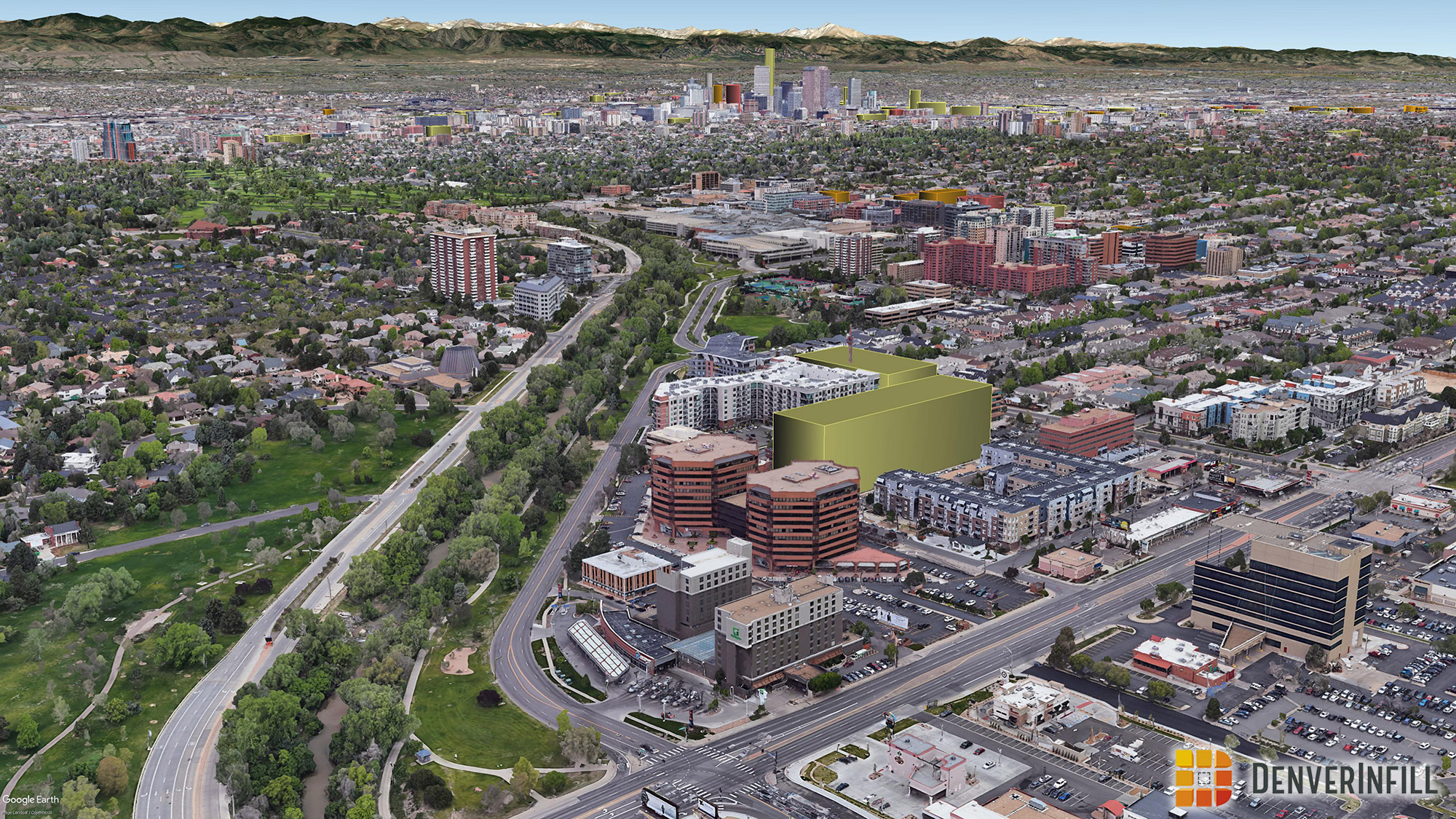 Denver 3D future skyline - view 9