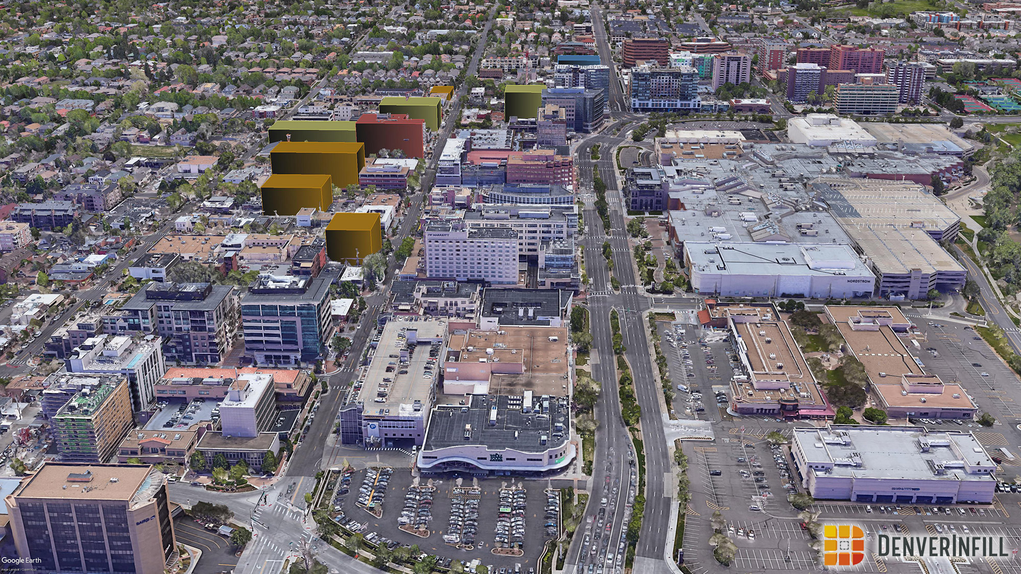 Denver 3D future skyline - view 8