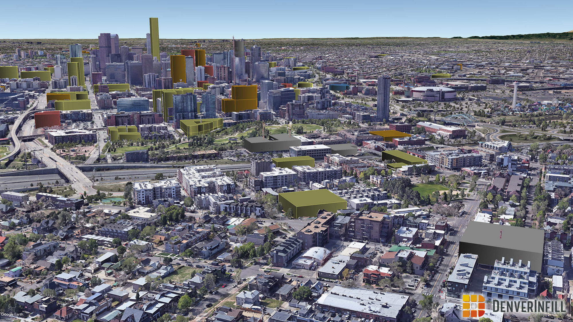 Denver 3D future skyline - view 4