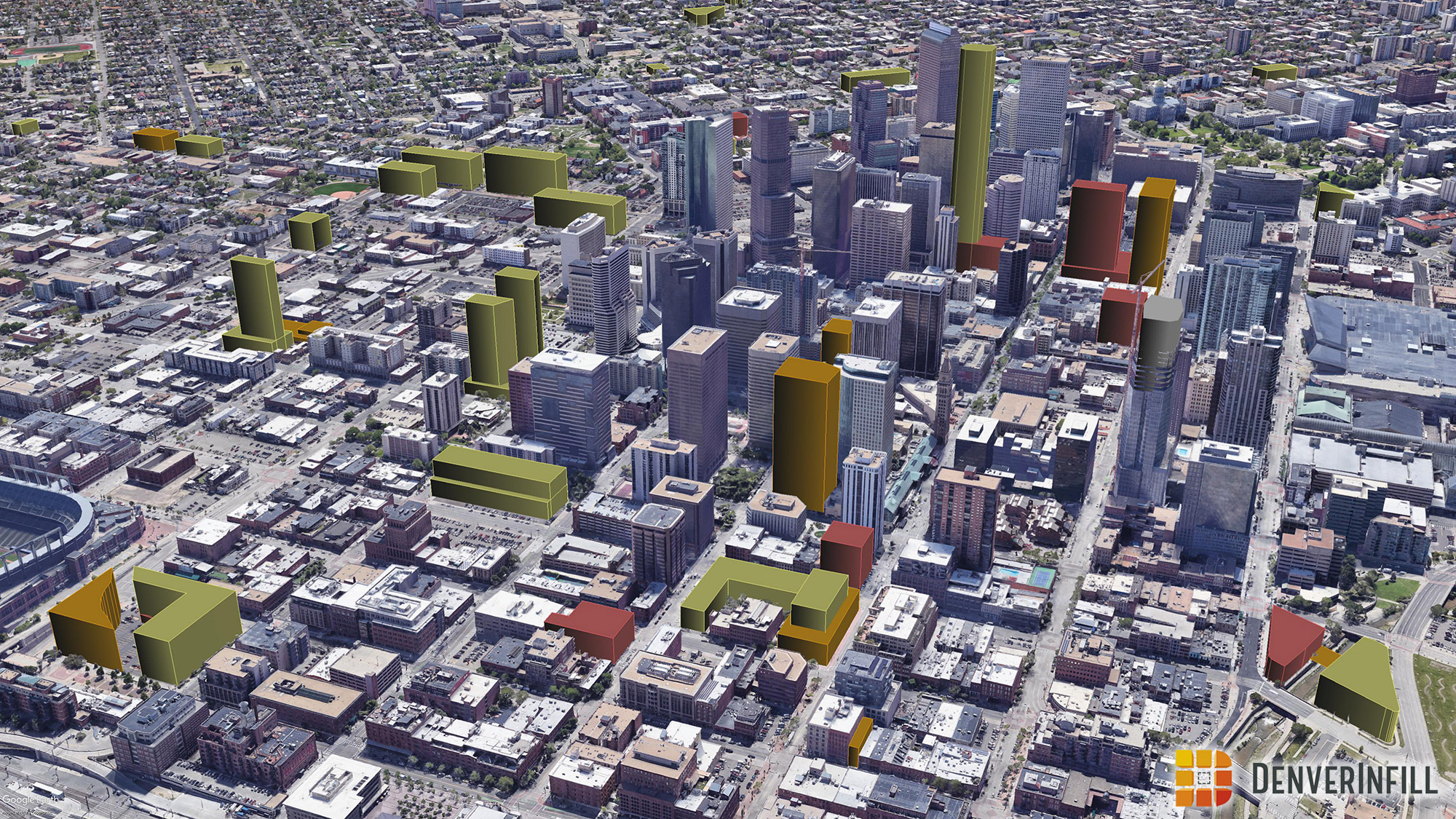 Denver 3D future skyline - view 2