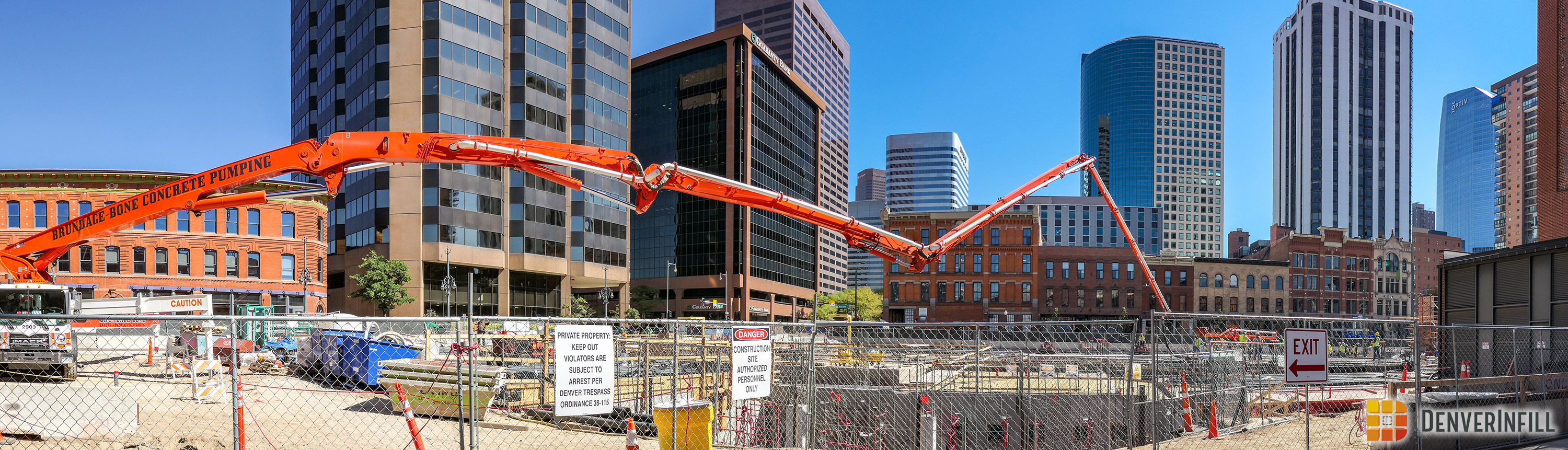 Panorama of Market Station construction.