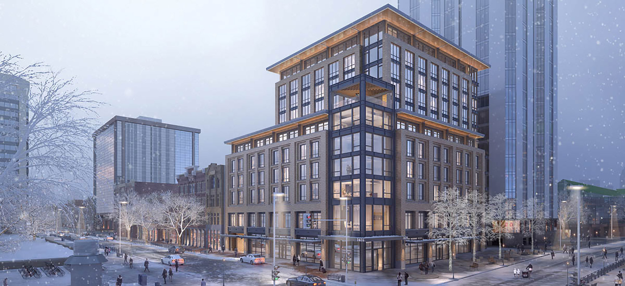 Rendering of 1600 Market Hotel, courtesy of DLR Group