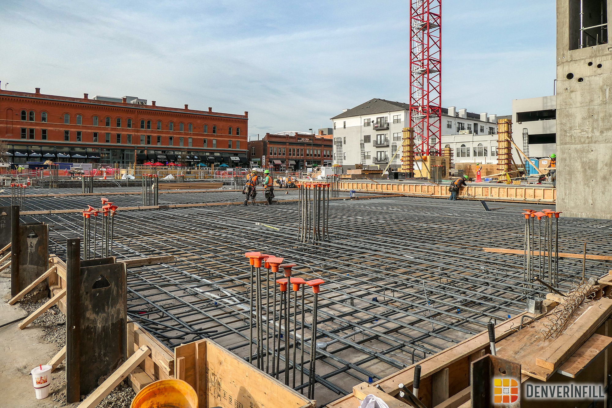 Construction activities at Platte Fifteen