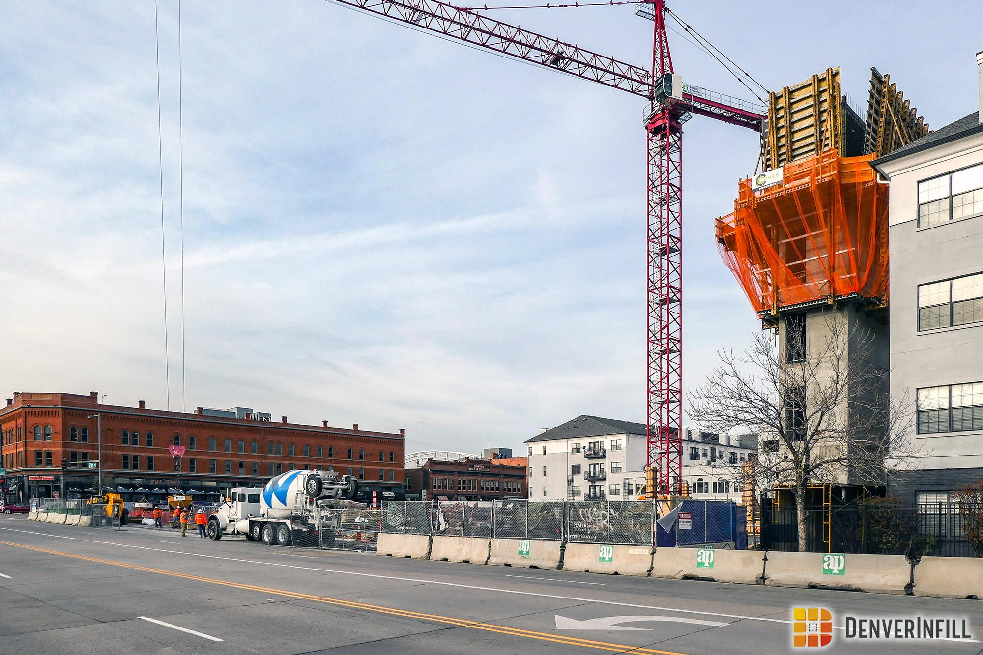 Platte Fifteen under construction along 15th Street