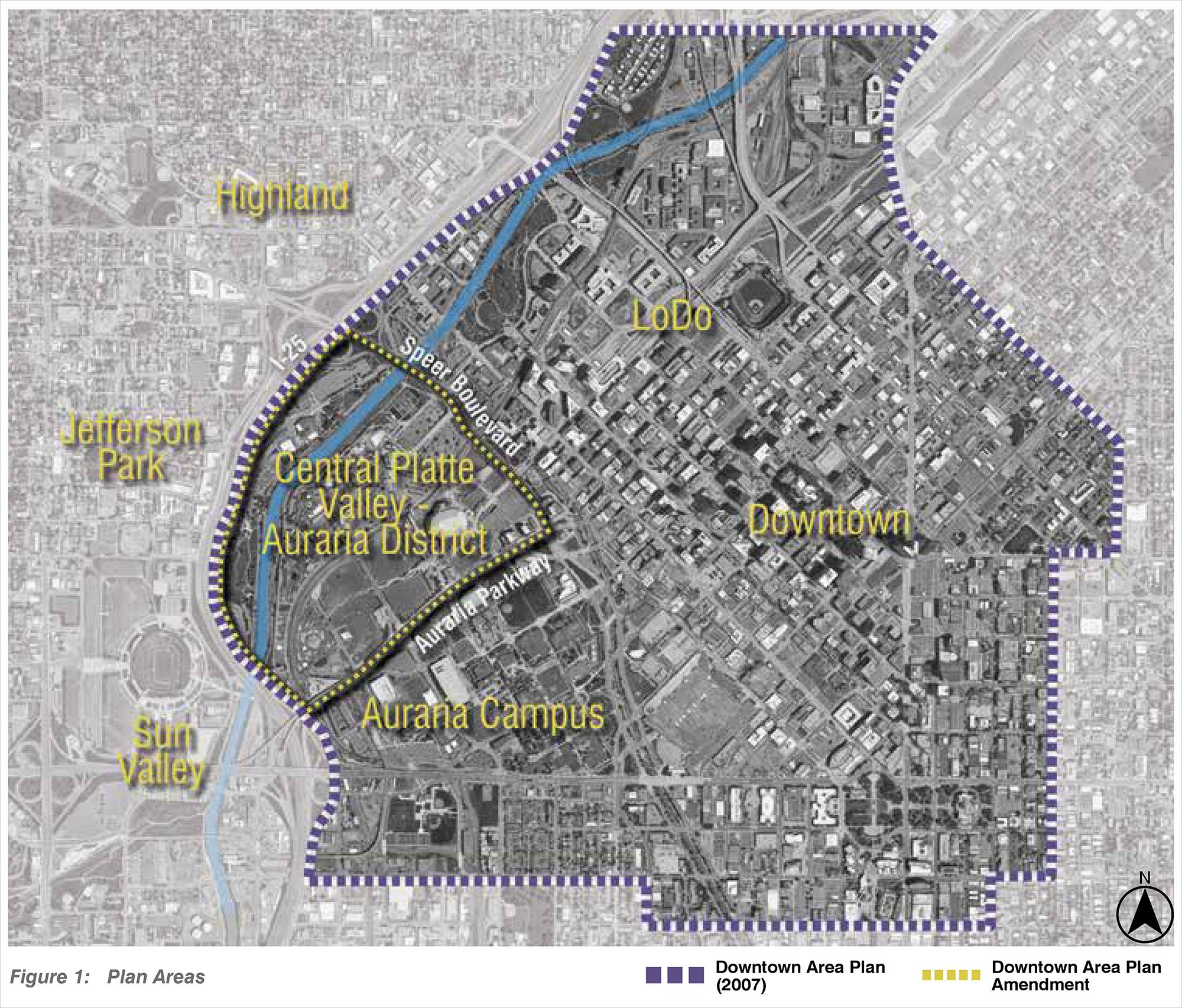 Downtown Area Plan Amendment map