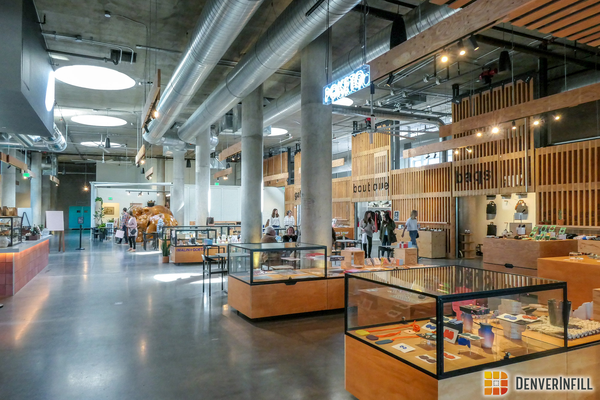 Interior of the new Source Hotel's market hall