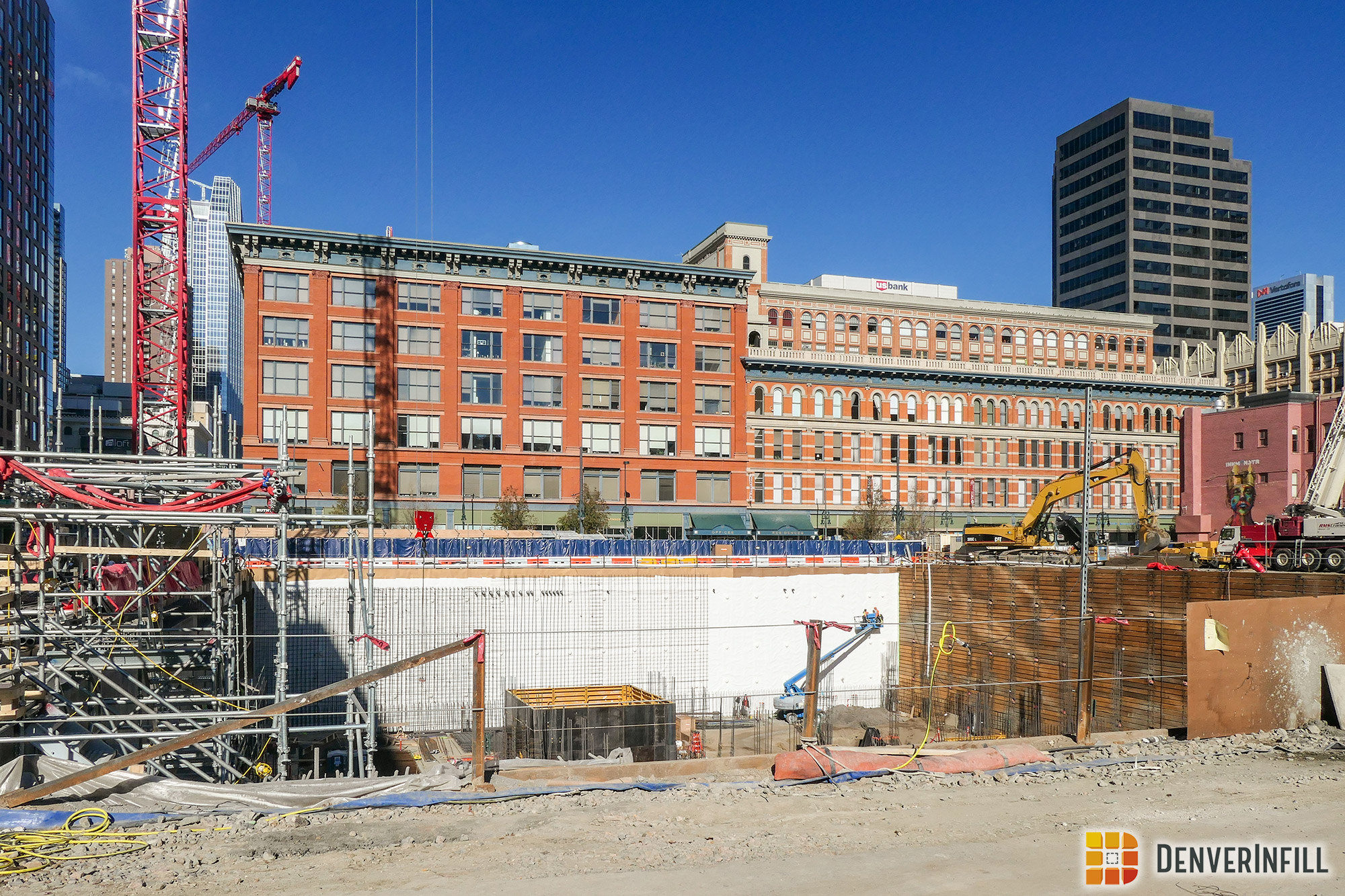 Block 162's shoring walls for the underground parking levels