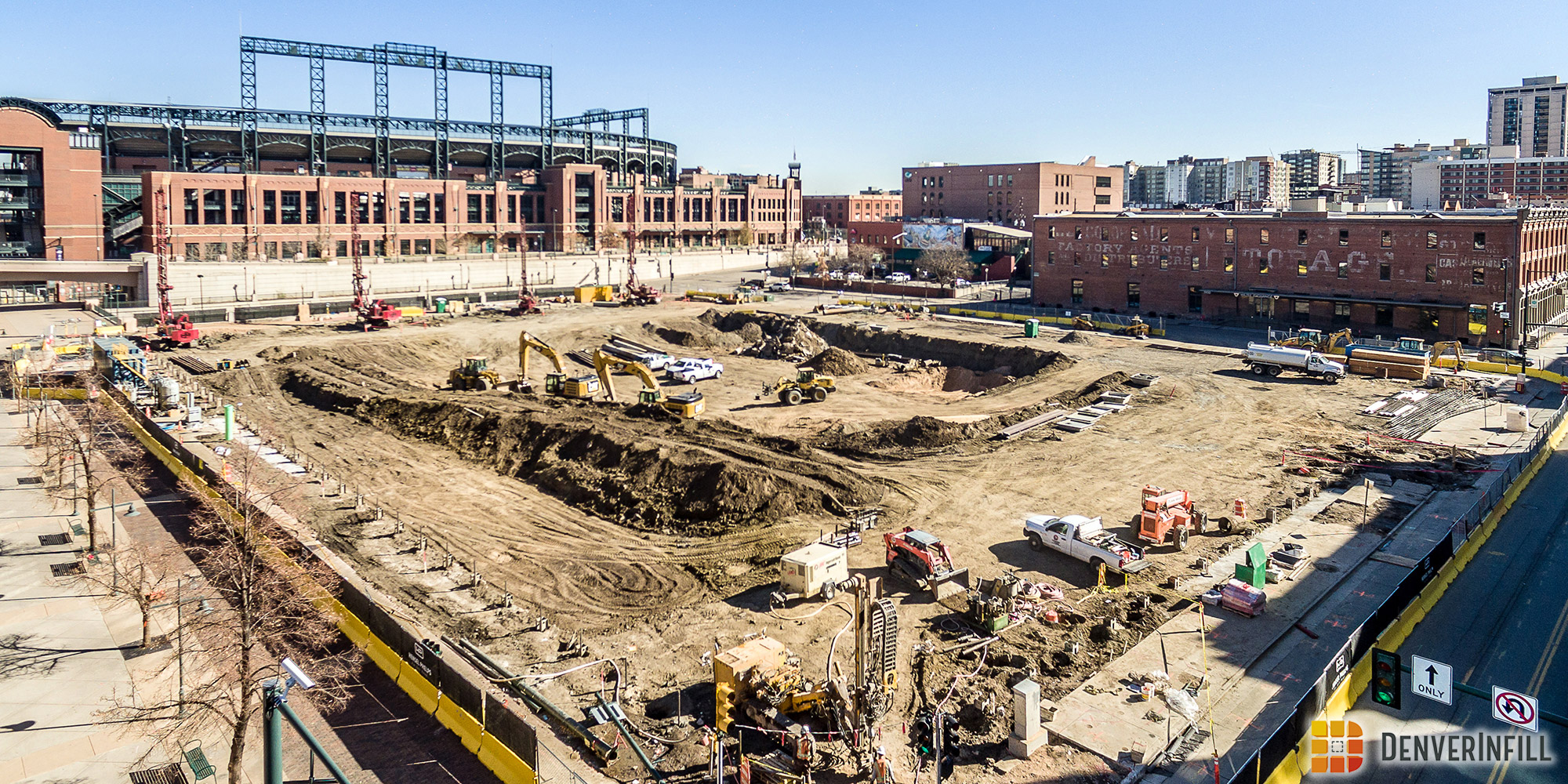 Workers started this fall on the full-block Colorado Rockies Mixed-Use development that includes a hotel.