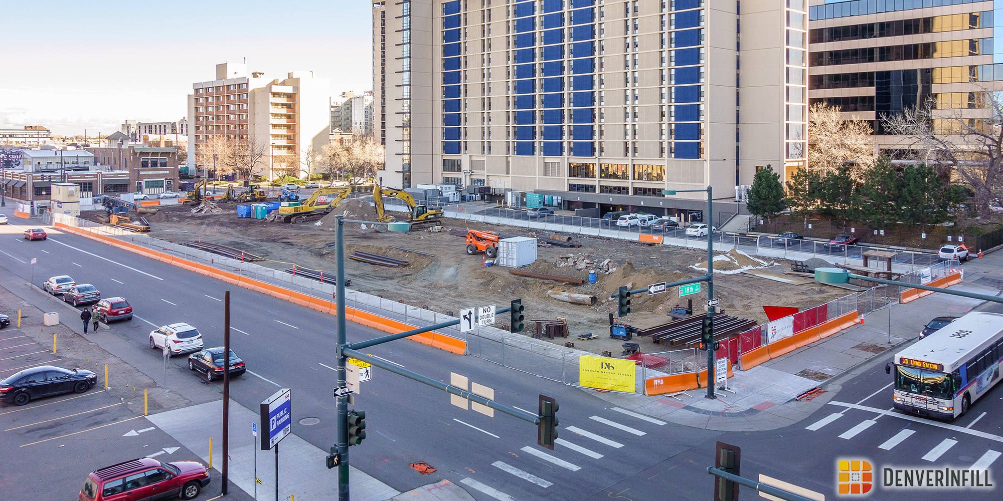 The 18th and Market Apartments recently broke ground and will fill a major gap in LoDo's urban fabric.