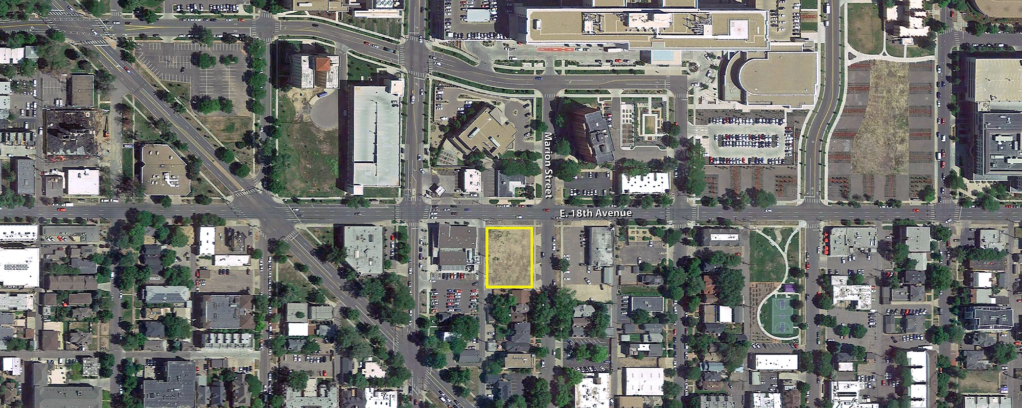 Broadstone Uptown West site location, base aerial courtesy of Google Earth