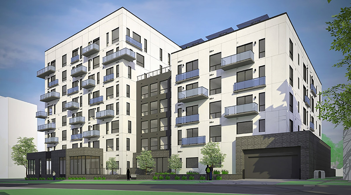 Conceptual rendering of Broadstone Uptown, courtesy SAR Architects