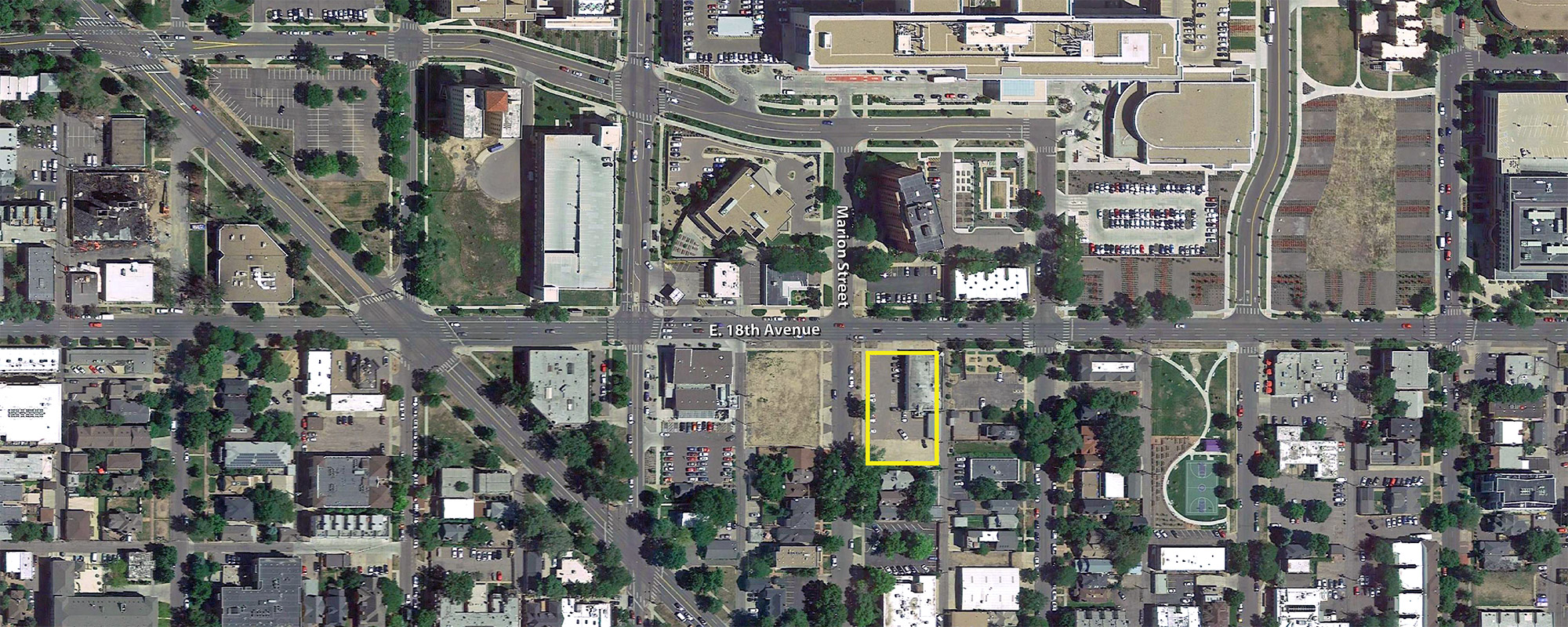 Location of the proposed Broadstone Uptown project, base aerial courtesy Google Earth