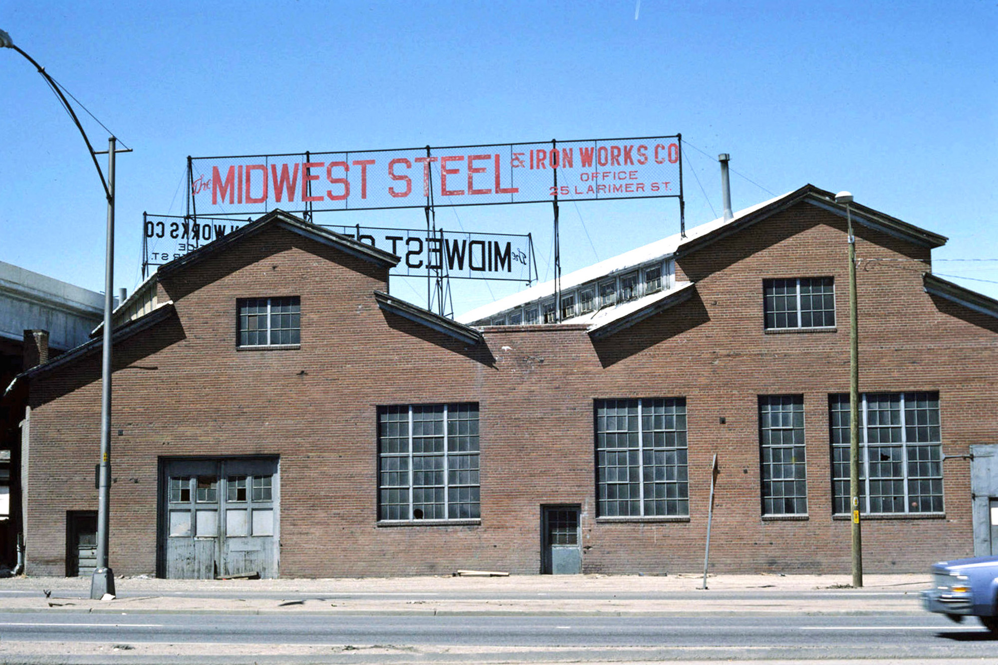 MIdwest Steel buildings at 1338 1st Street in the 1980s, courtesy Denver Public Library
