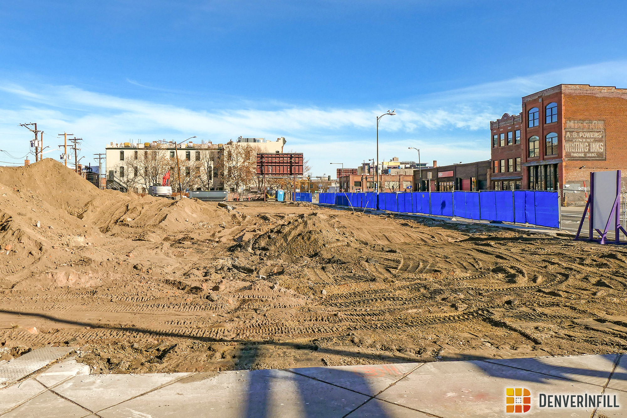 View from 21st Street of construction of the Buell Public Media Center