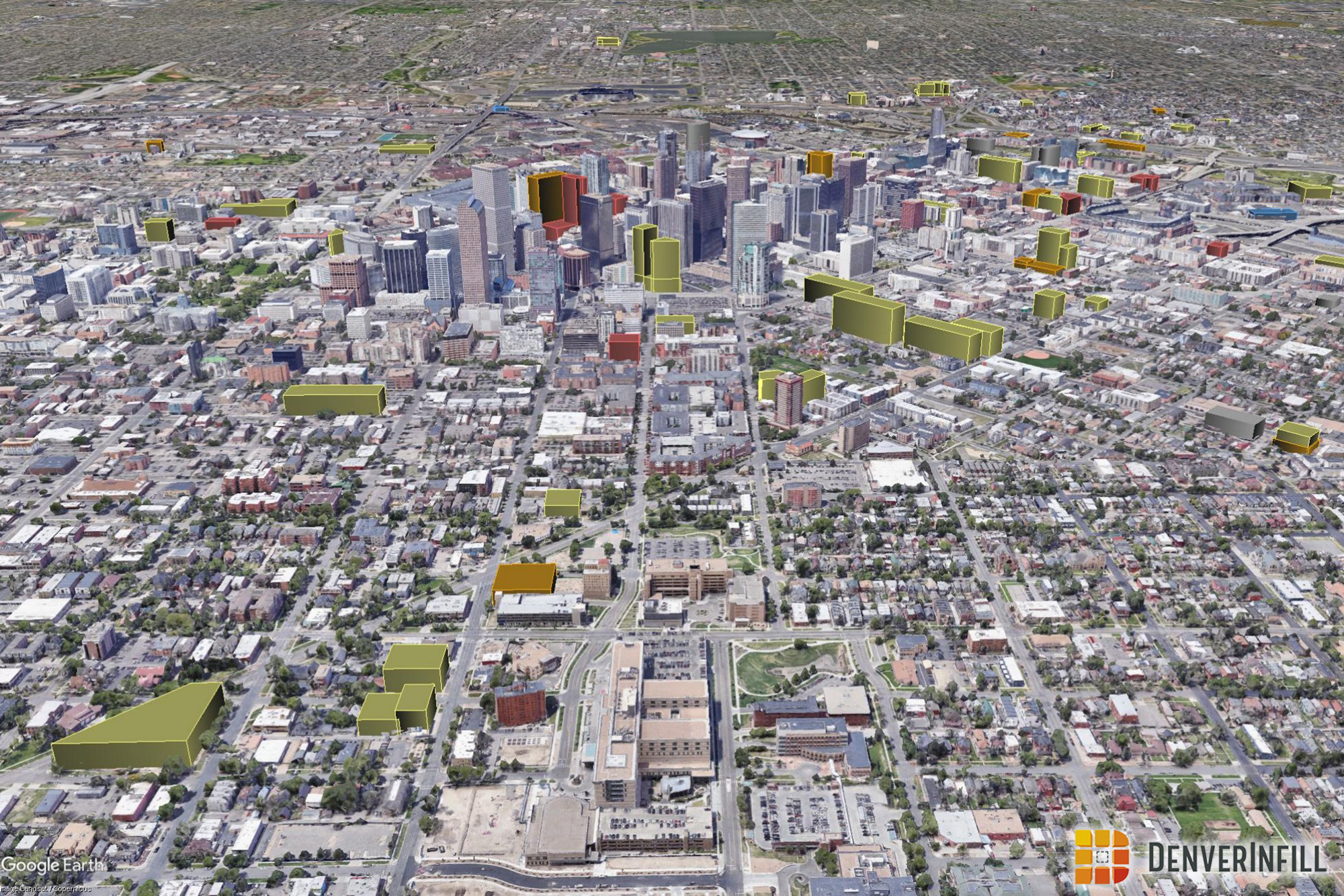 Denver 3D Future Skyline December 2018