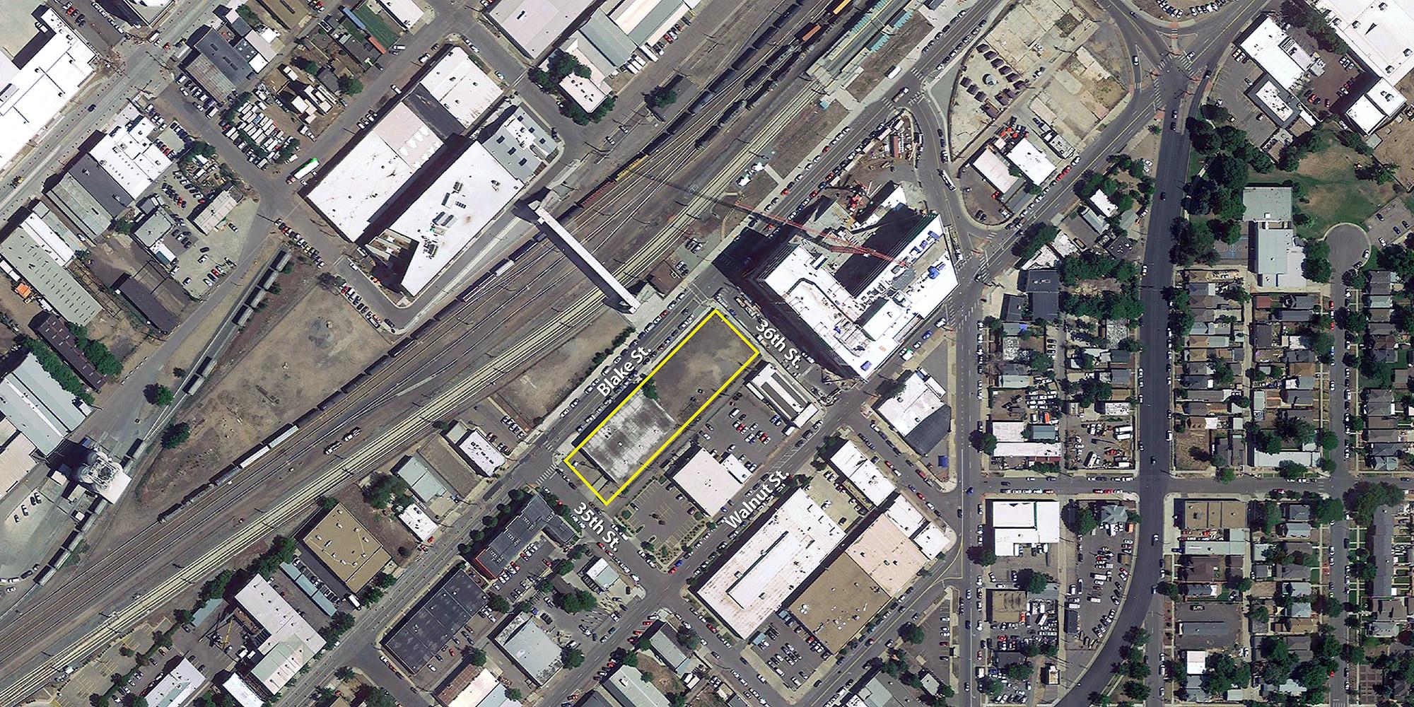 T3 RiNo location, base aerial courtesy of Google Earth