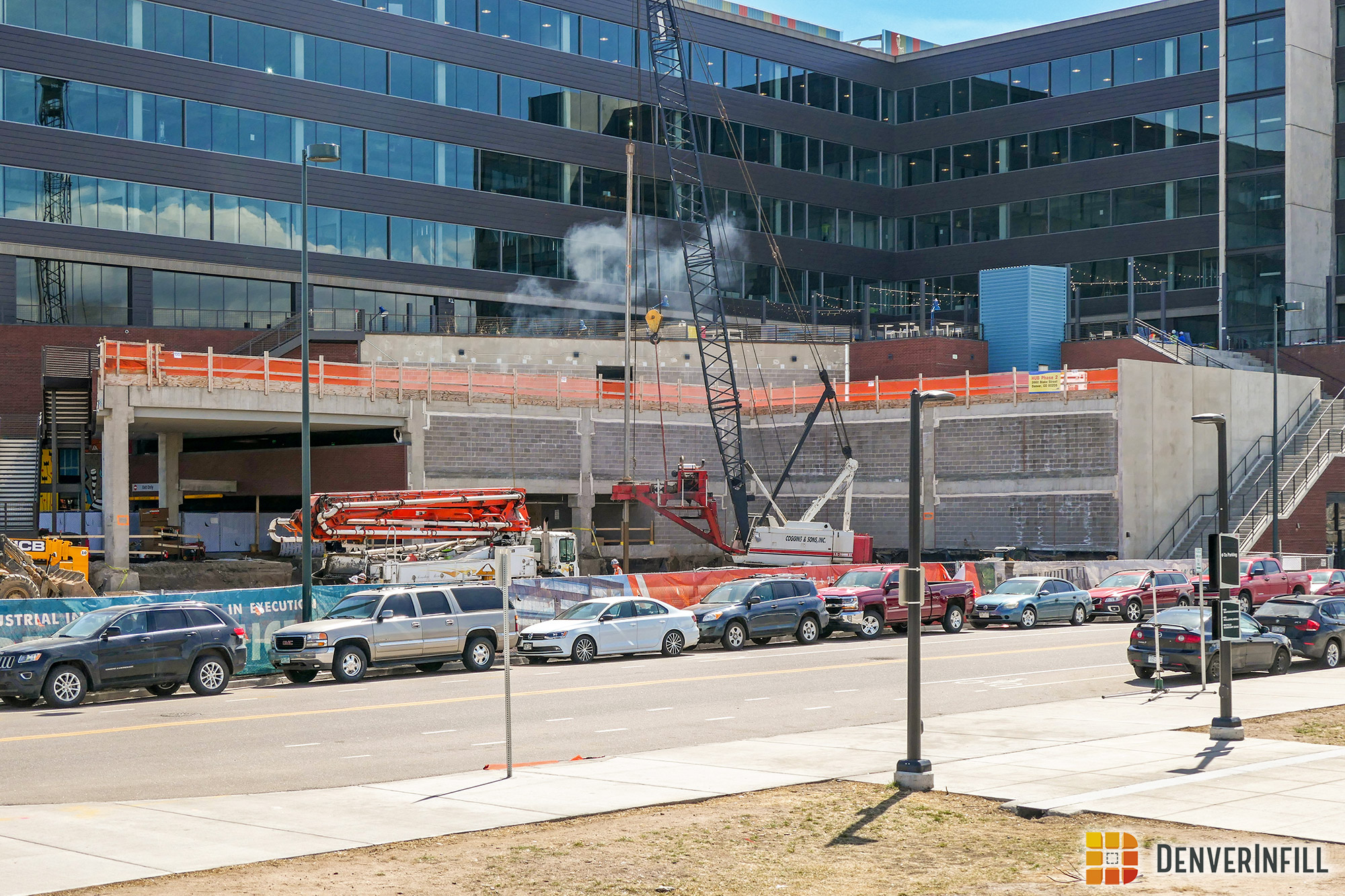 Construction of HUB North from the 38th and Blake transit station