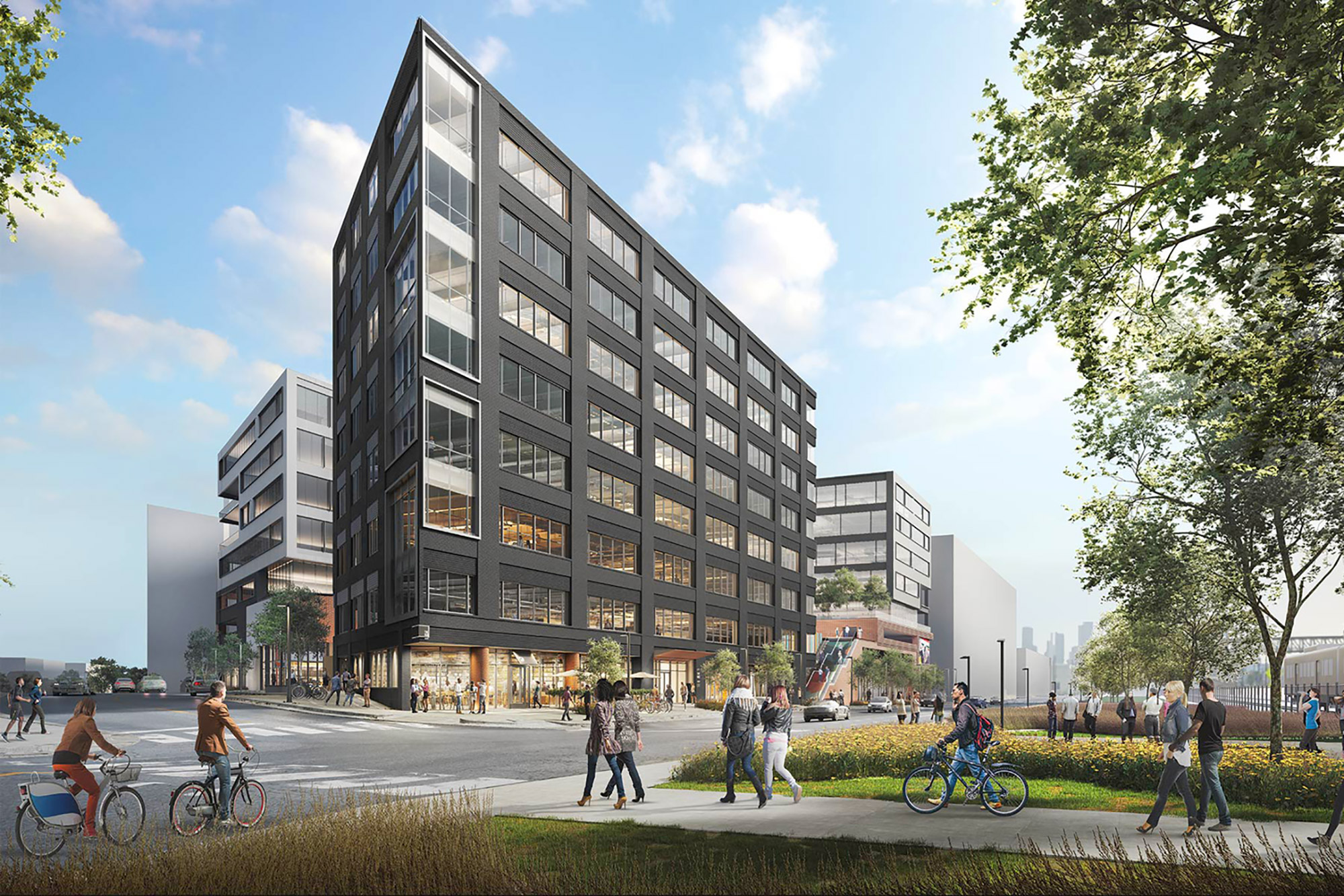 Rendering of HUB North, courtesy of Gensler