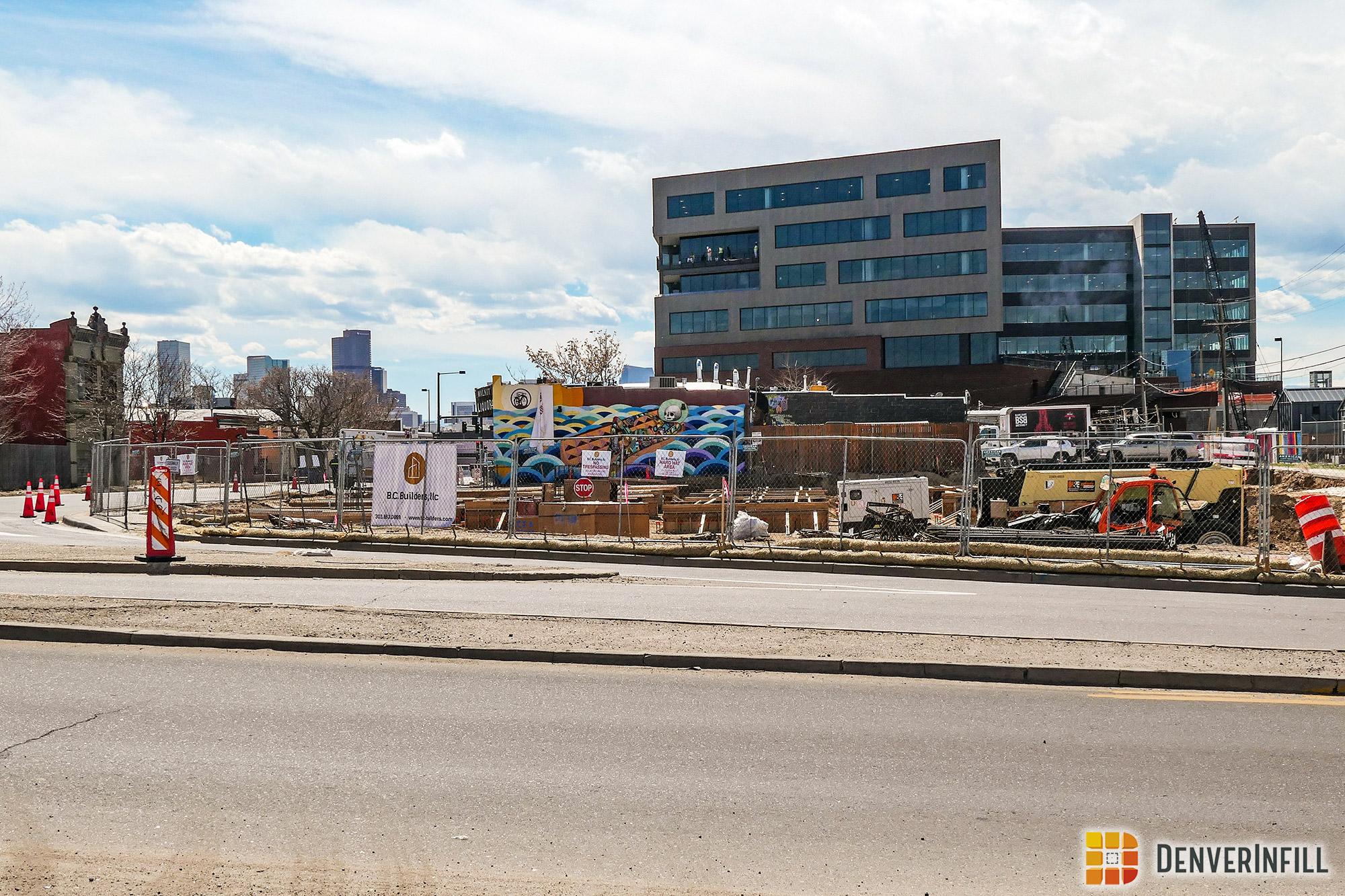 Walnut Street Lofts under construction, March 2019