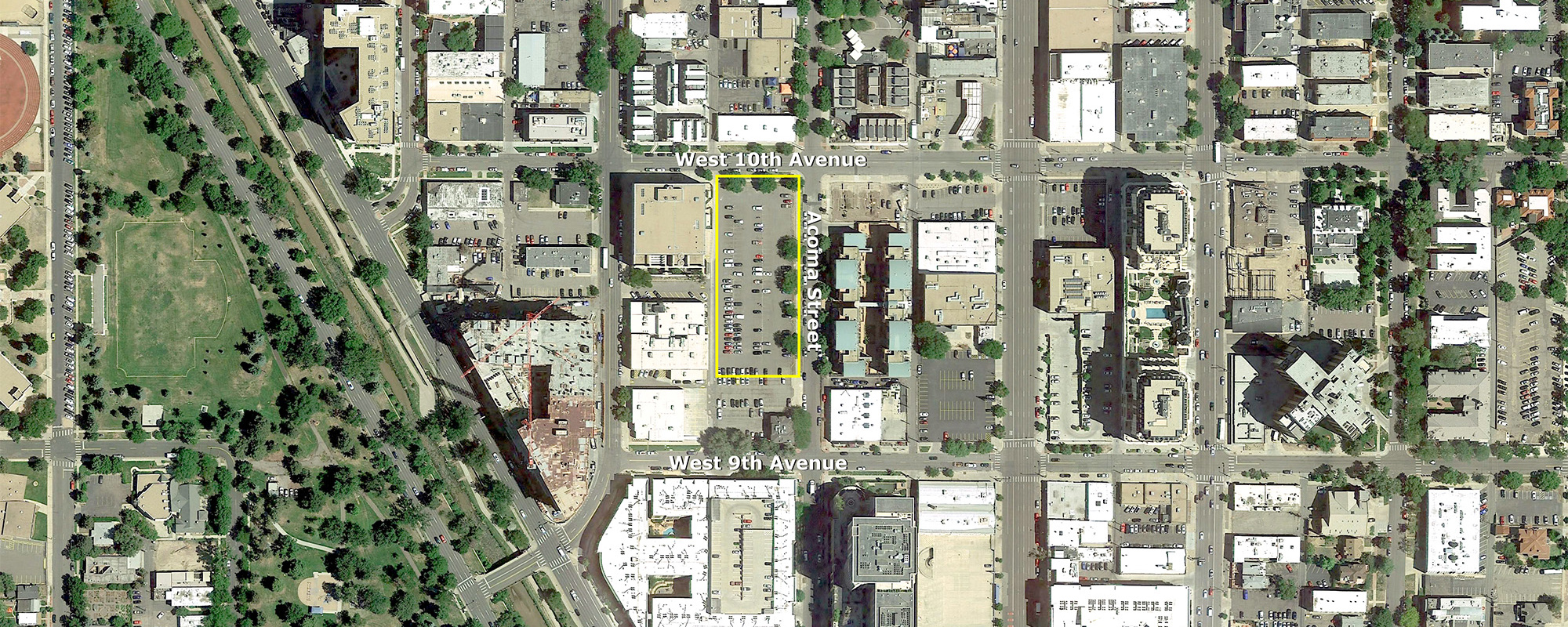 10th and Acoma Aerial Map
