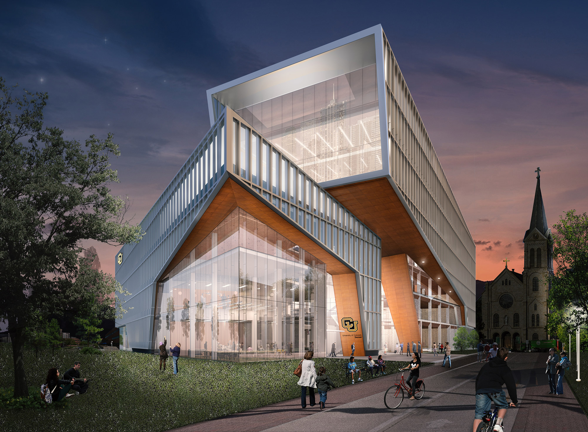 Proposed CU Denver Engineering building after full build-out, courtesy of ZGF