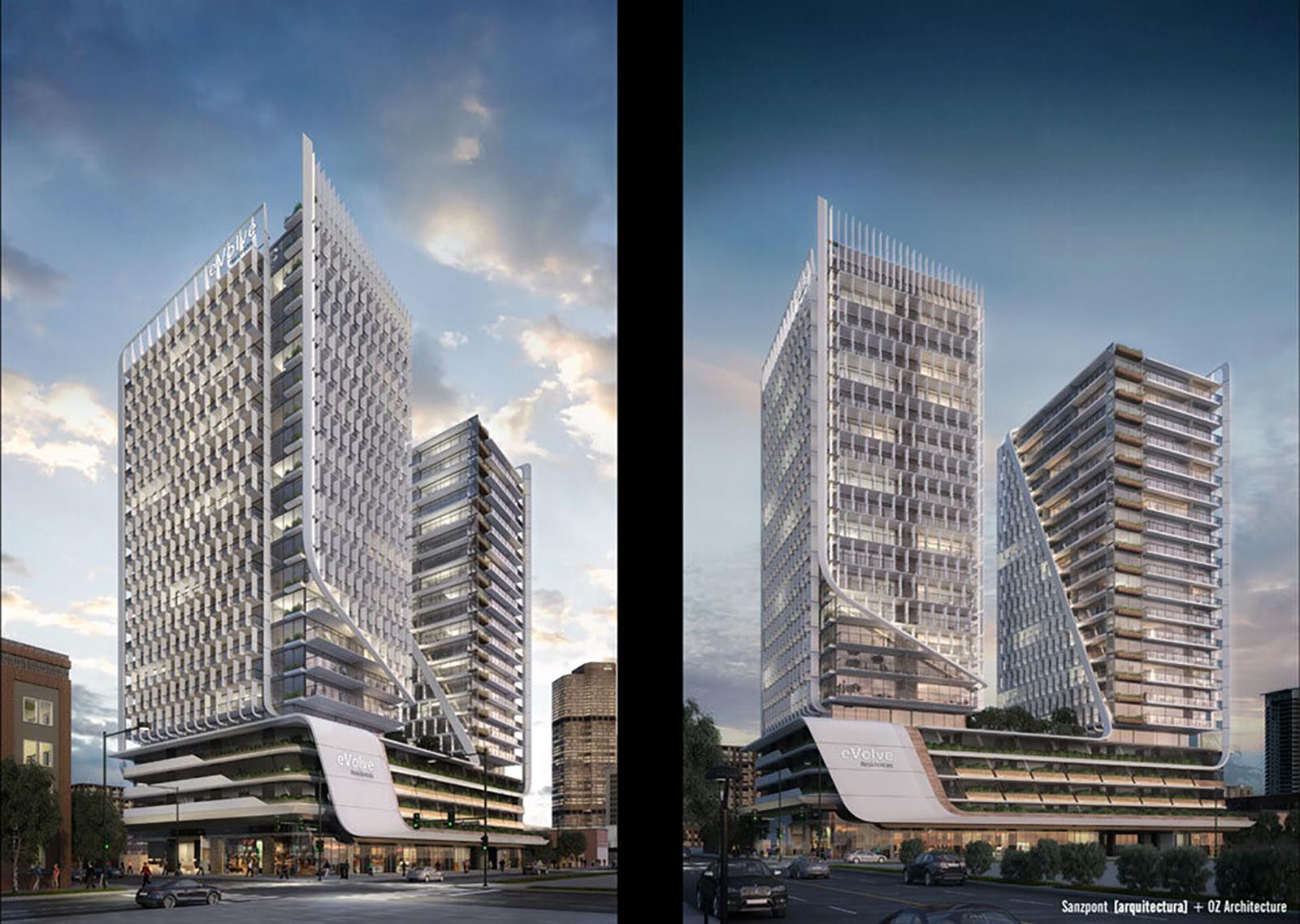 Evolve Towers Rendering