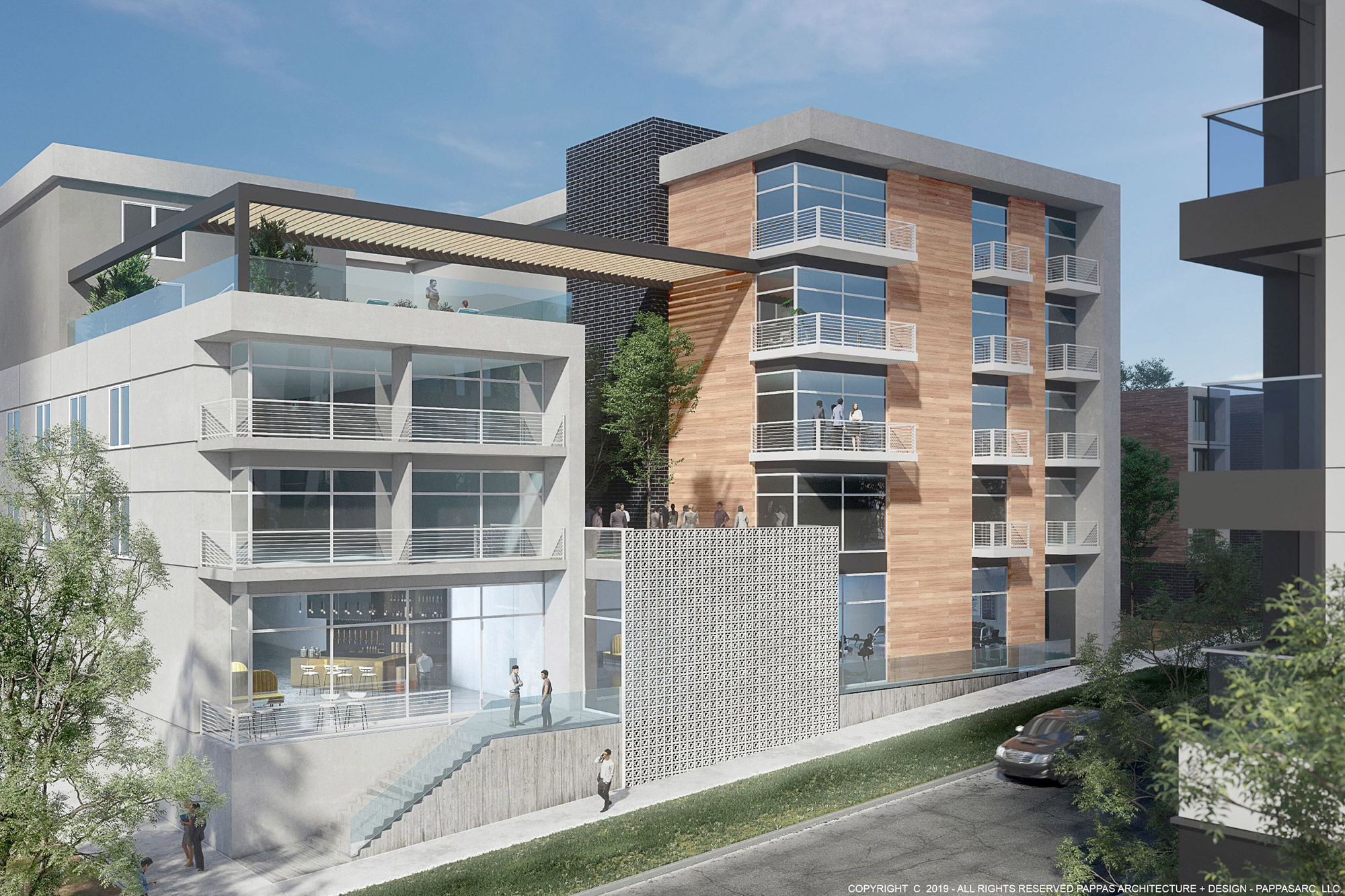 Rendering of proposed Sonder Hotel, courtesy of Pappas Architecture + Design