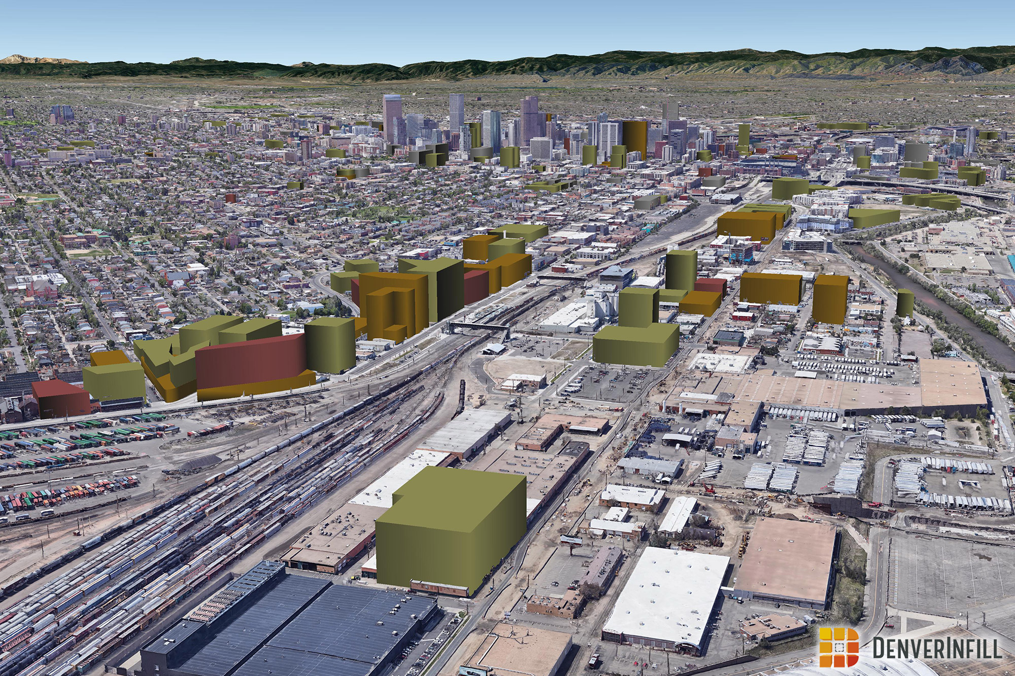 Denver 3D Future Skyline January 2020